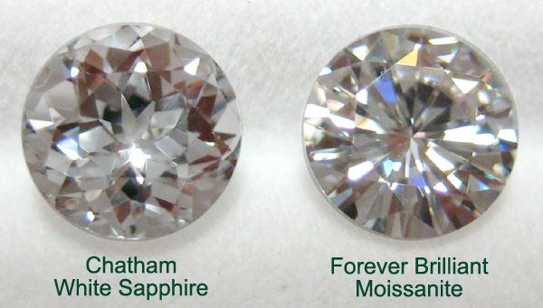 White Sapphire vs  Moissanite Price Comparison
